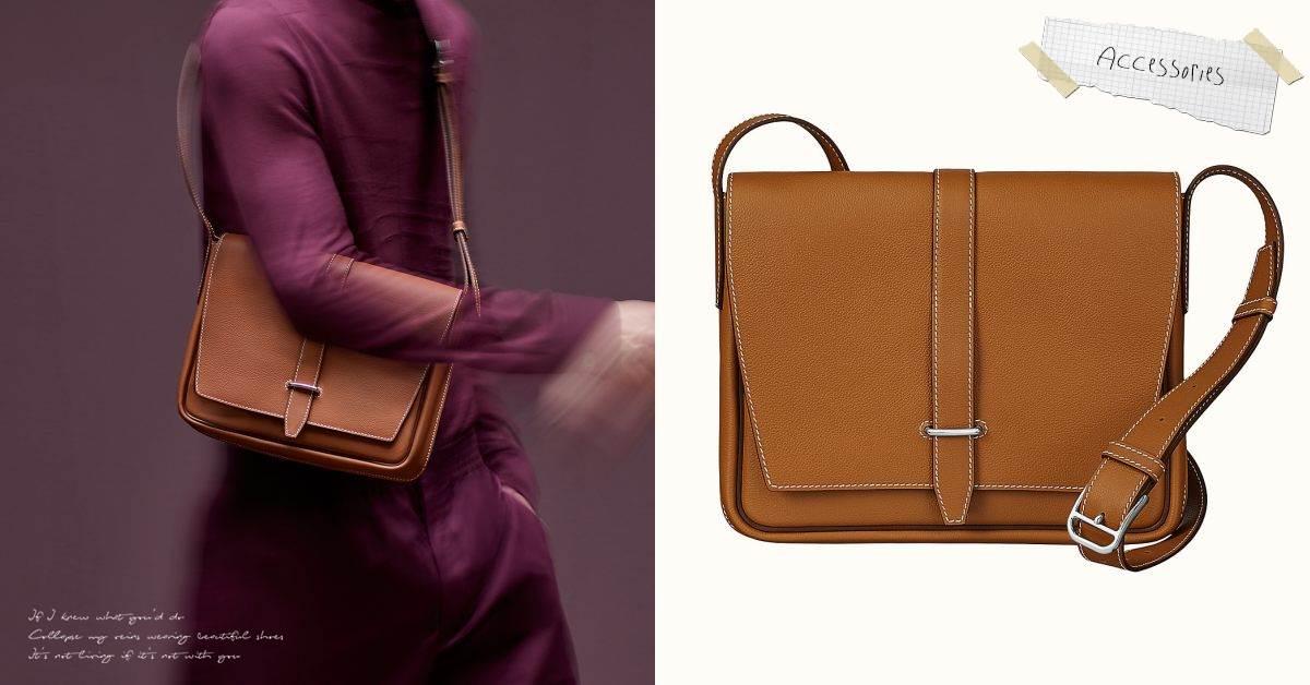 Hermès方包推薦這款! 「Steve Light Junior」 裝得下平板、A4文件,時髦OL穿搭必備