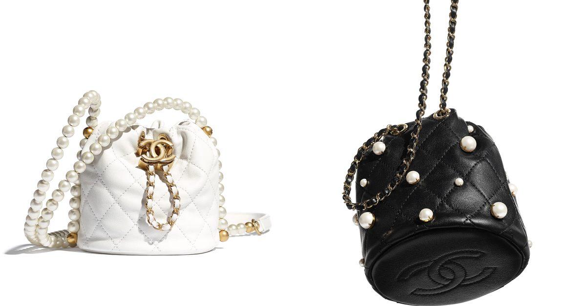 Chanel水桶包也要有「珍珠」!稜格紋、雙C Logo、粉色 ,2021女孩最想要的包就是它!