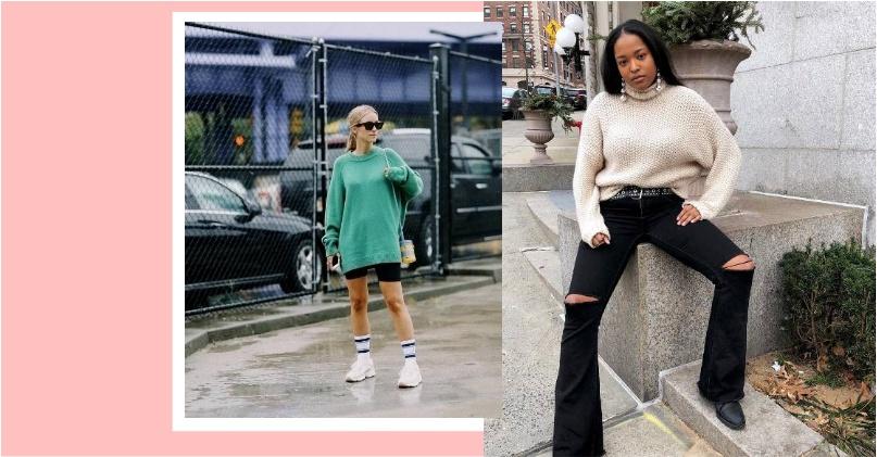 紐約人入秋也瘋甜美穿搭?「鬆軟系」毛衣上身!這 3 種穿搭讓妳個性浪漫一手包辦