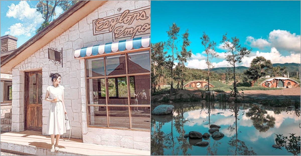 苗栗最新景點「綠意山莊」,除了童話小鎮、日本鳥居,還有豪華露營體驗!