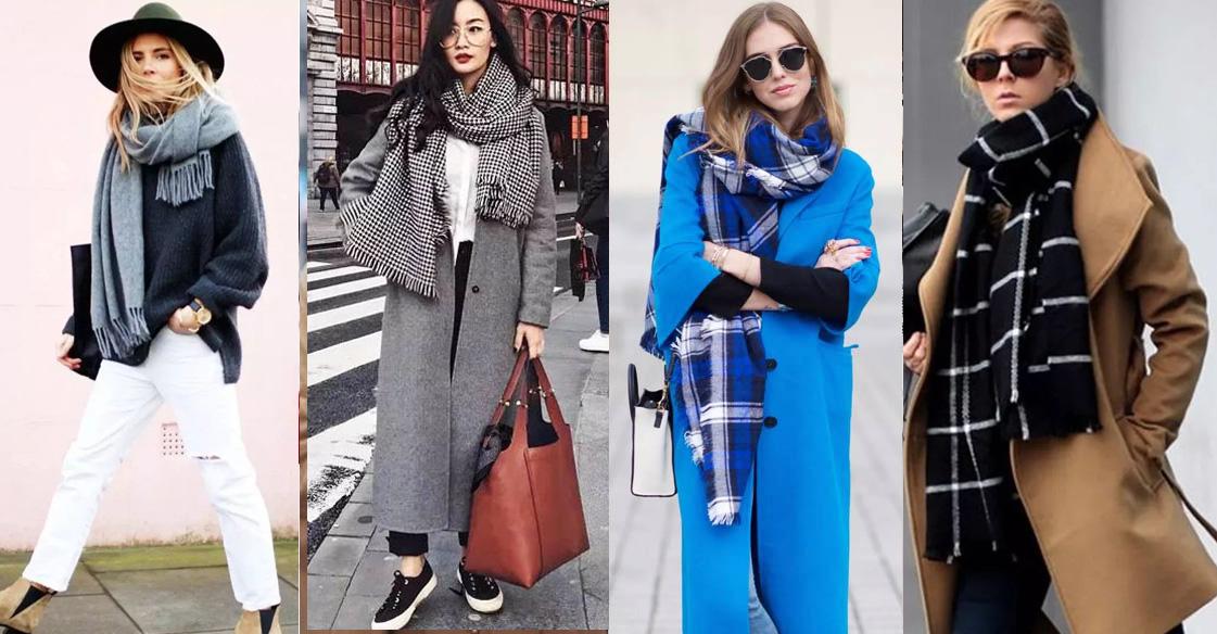 「圍巾+大衣」怎麼配?推薦這4種方法,讓妳的秋冬穿搭更好看!