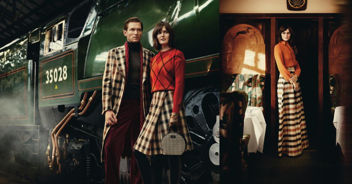 以英國蒸汽火車為概念,譜出浪漫的秋冬新時尚