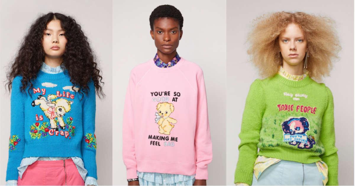 厭世金句流行再一波!Marc Jacobs 與英國藝術家推惡趣毛衣單品