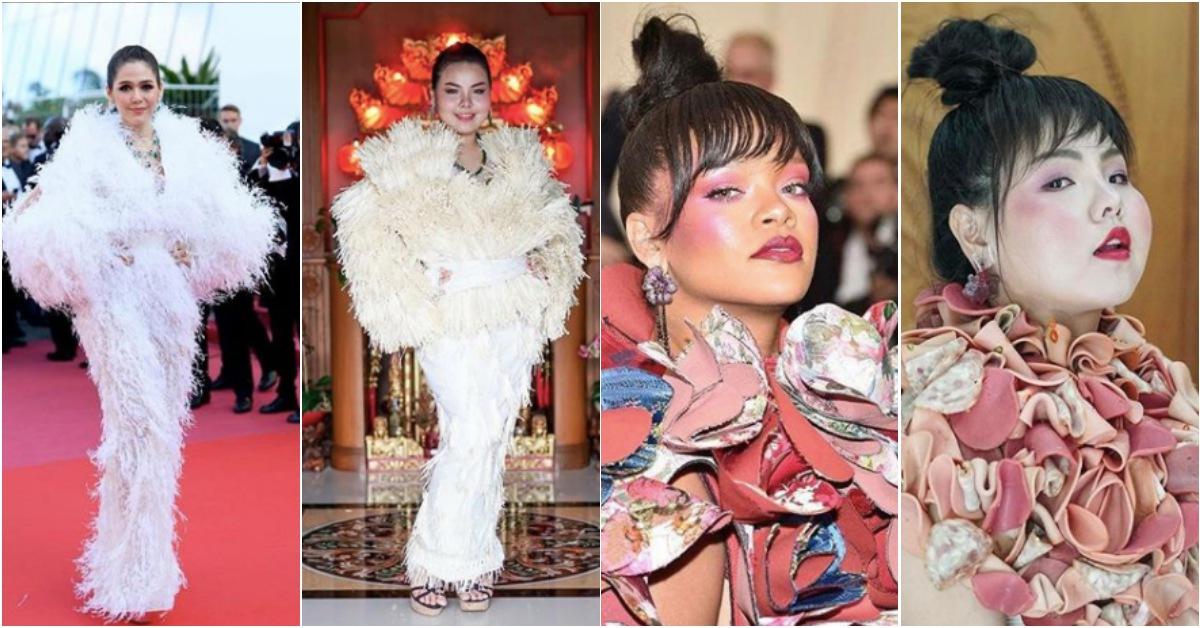 范冰冰、蕾哈娜的禮服也能自己做!泰國網紅用金針菇、火腿「低成本食材」拷貝華美紅毯裝超療癒