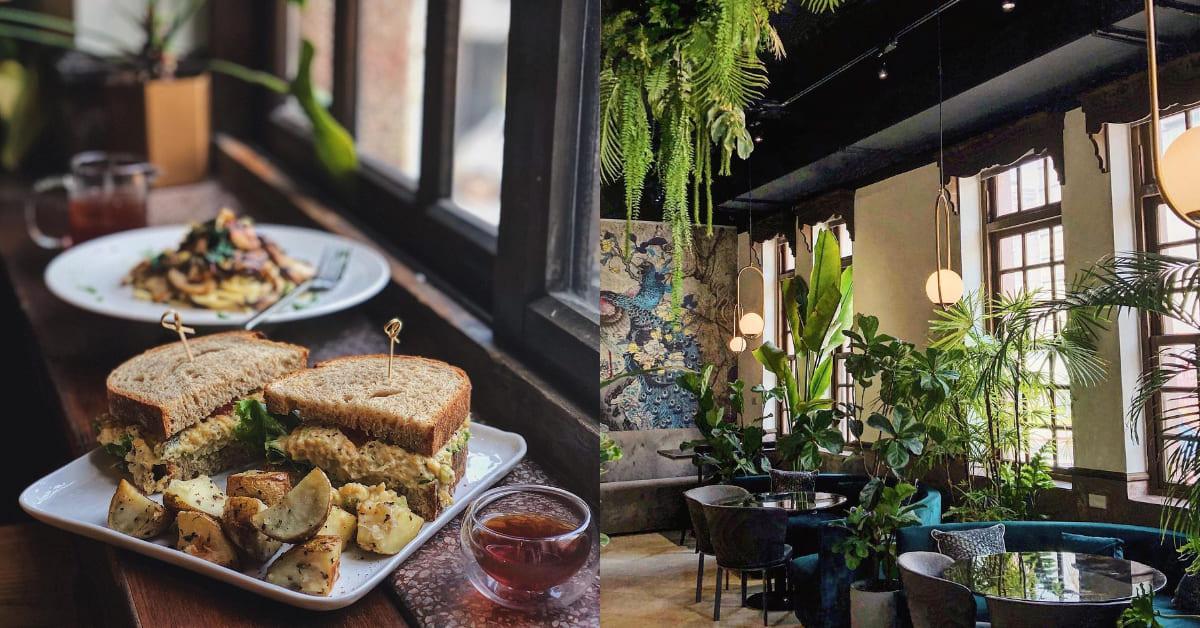 """大稻埕美食「叁食山」正當紅!""""森林系""""蔬食餐酒館進駐百年洋樓,從眼睛到肚子一次滿足"""