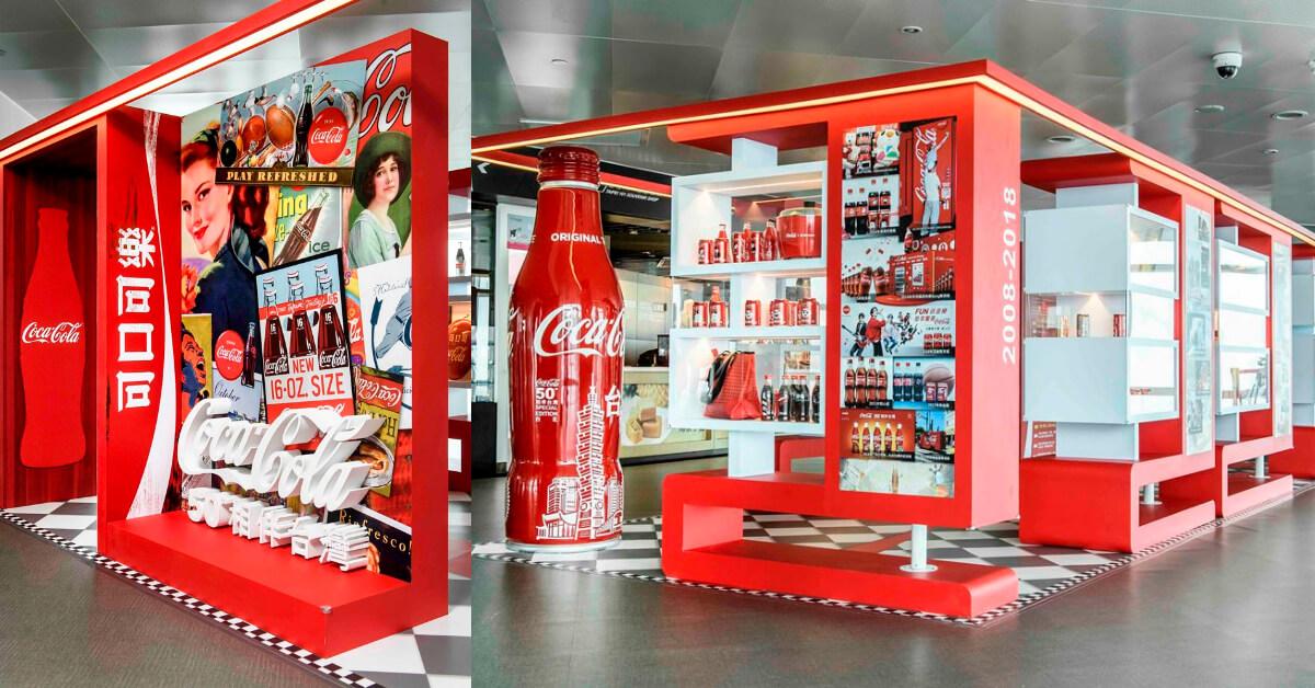 溜溜球、手機、大同電鍋等周邊懷舊再現!地表最高展覽「可口可樂50周年特展」登上台北101