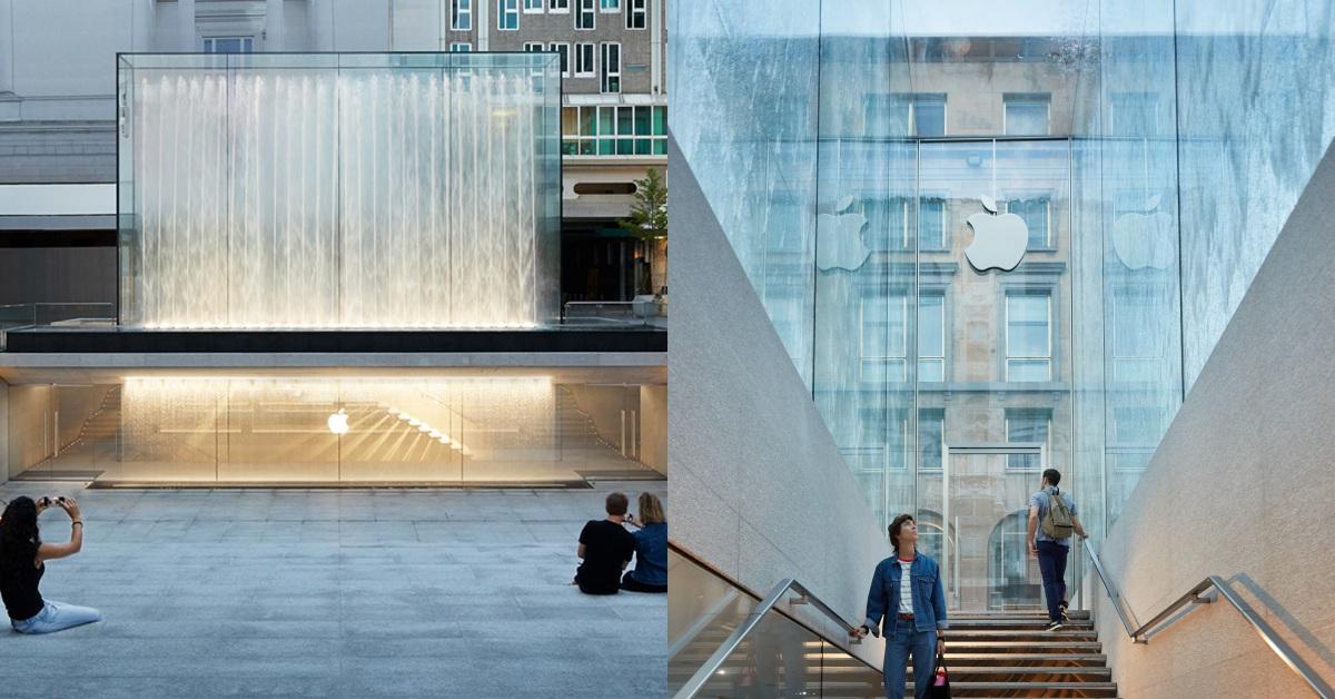絕美Apple store!玻璃立體方塊還不夠加入華麗噴泉,見證時尚之都米蘭「藝術與科技」的融合
