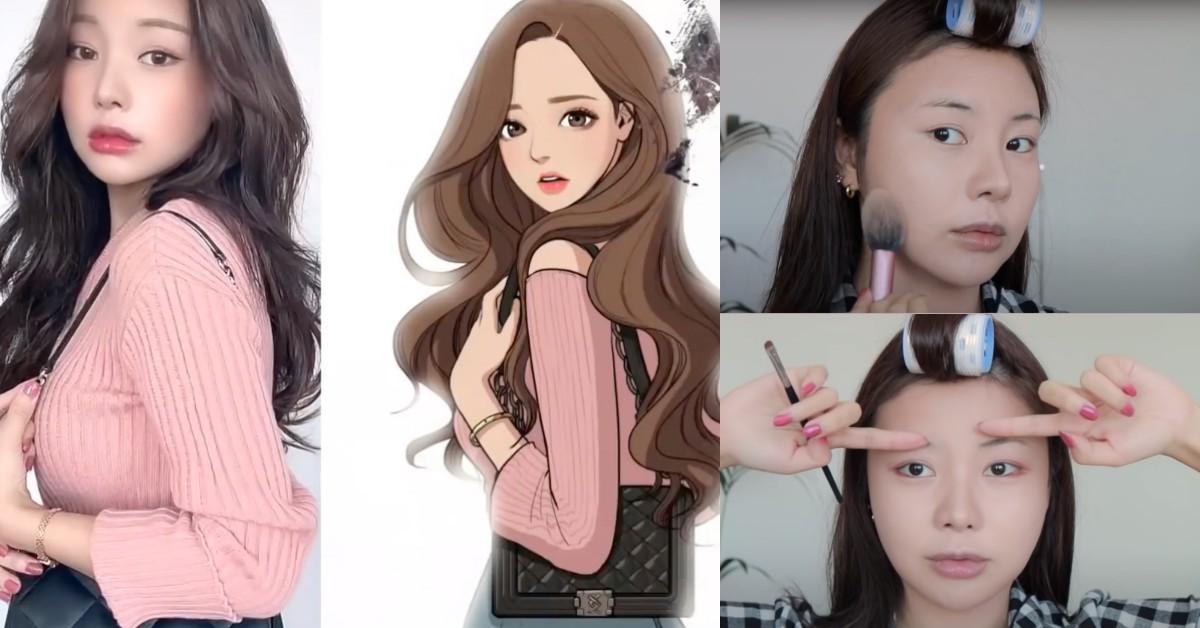 韓美妝Youtuber神級還原《女神降臨》任朱靜!超猛化妝術教學,下滑5步驟一起變身漫撕女!