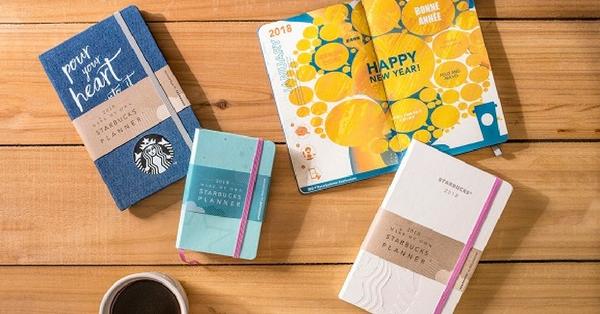咖啡與文具迷雙淪陷!珍珠白、湖水綠、牛仔系 Starbucks與Moleskine推出聯名2018行事曆