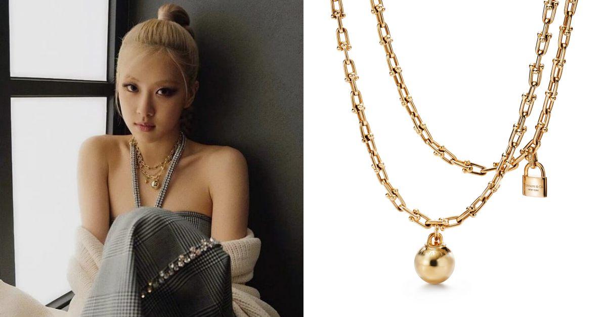 Tiffany珠寶推薦「HardWare」系列!南韓史上最暢銷女歌手,BLACKPINK Rosé穿搭必備這條金項鍊