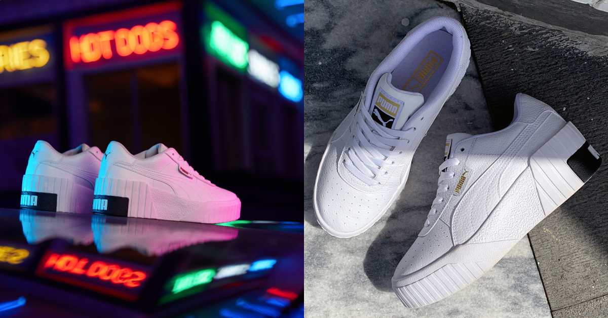美腿神器是它?Puma厚底小白鞋真的太時髦!百搭、增高、顯腿長一雙就搞定!