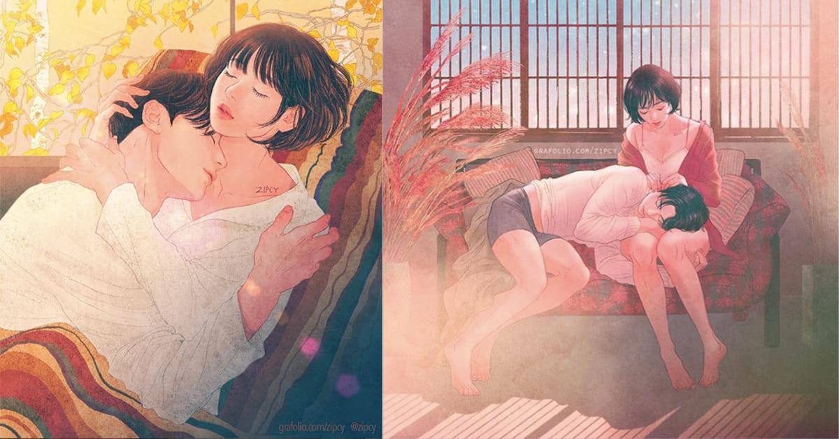 沒有人陪不要擔心!韓國插畫家的女孩深夜小劇場,幫你腦補度過孤單的今夜~