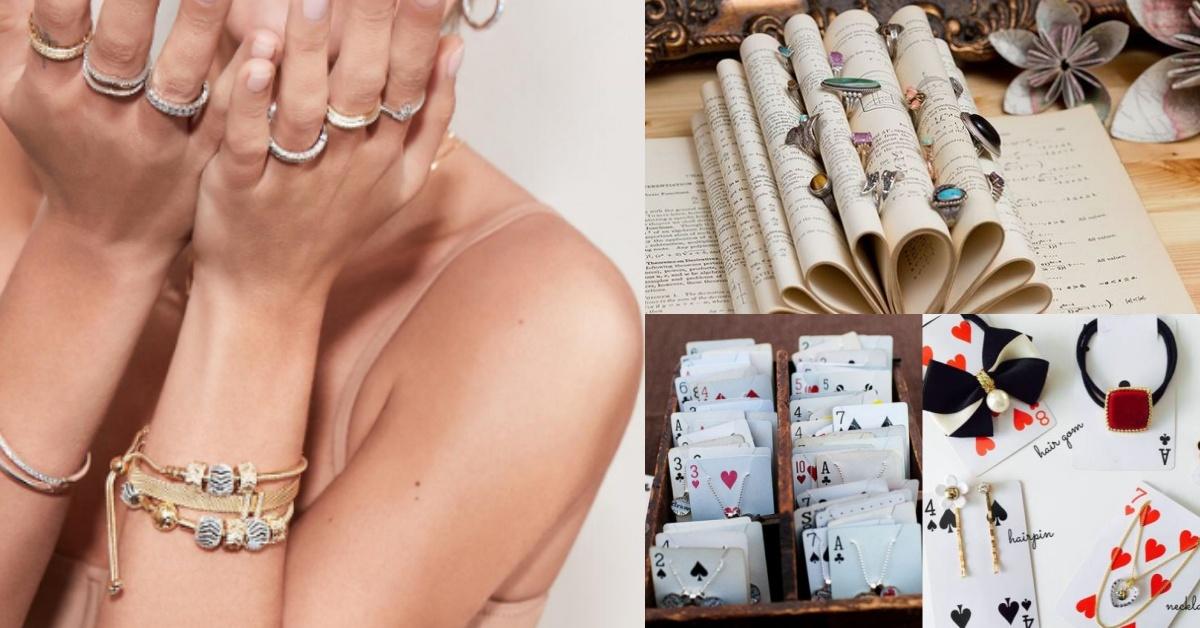 飾品打結超苦惱?「撲克牌、書、製冰盒」等8個廢物都能變成飾品收納盒!