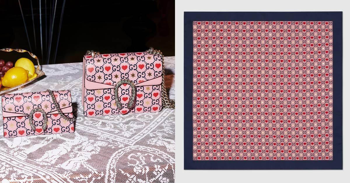 Gucci情人節限定超可愛!老花Logo搭配愛心圖案的設計,今年第一個包就選它!