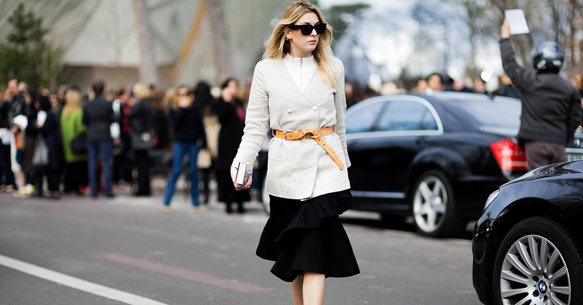 秋冬最巧妙的造型法,一條腰帶讓你有型又顯瘦