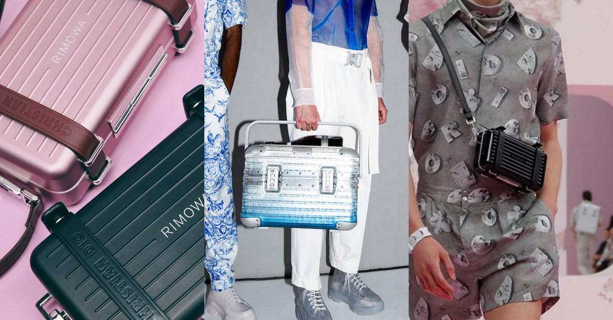 Rimowa登機箱變小了!與Dior聯名推硬殼後揹包、側背包,還有玫瑰粉跟漸層藍