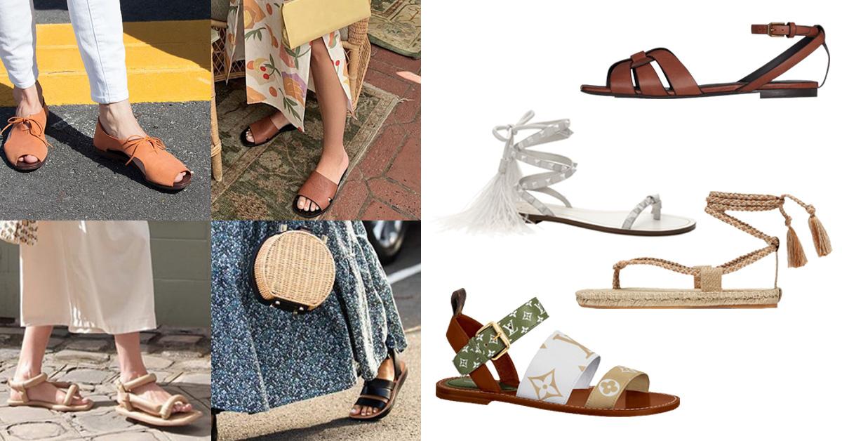 2020夏天最值得入腳的6雙「平底涼鞋」推薦!Gucci、YSL、LV..一雙美鞋開拓不「平」凡之路