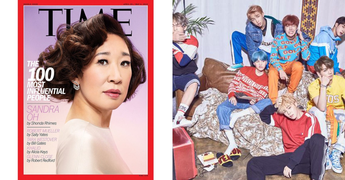 果然是世界彈!BTS入選《TIME》百大人物,金球得主亞裔女星吳珊卓成封面