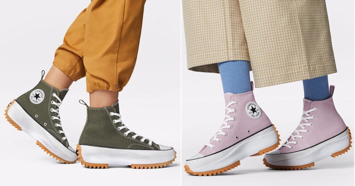 Converse厚底帆布鞋推新色!精選6雙夢幻配色,草莓粉、彩虹色,黃皮膚女孩請入手這個「顏色」,一秒變白皙大長腿