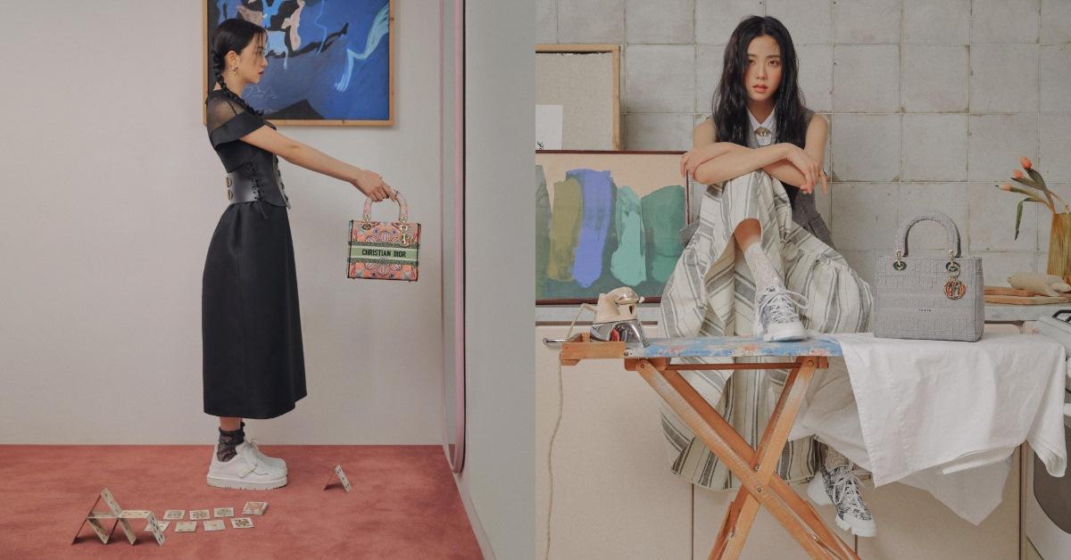 Lady Dior包包穿搭教學!BLACKPINK Jisoo示範3種造型,酷黑到多彩繽紛一包搞定!