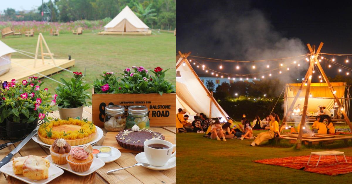 屏東「粮田集市」IG爆紅!在帳篷、草地上享用下午茶,入夜後升營火烤棉花糖 ,每個人秒變網美