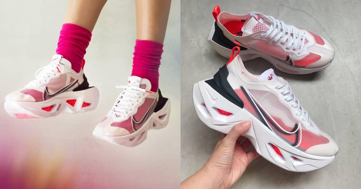 Nike新款透明運動鞋,換雙襪子像換雙鞋!5.5公分鞋底直接變超模長腿