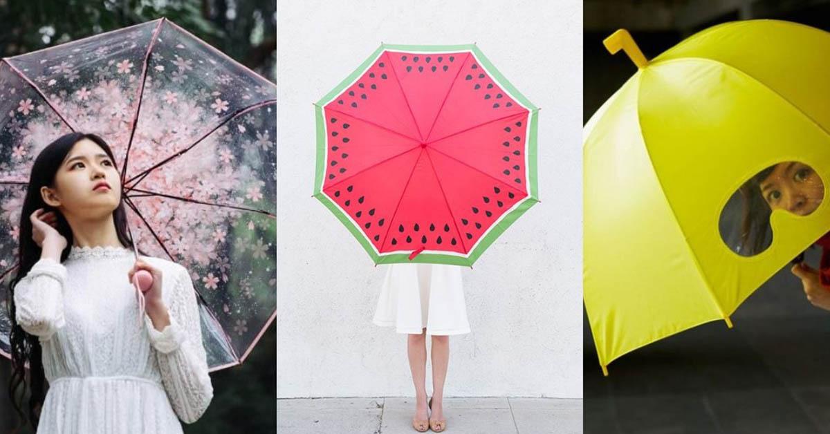 陰雨綿綿好鬱悶?撐上這 5 種設計的雨傘,讓你從此期待雨天的到來