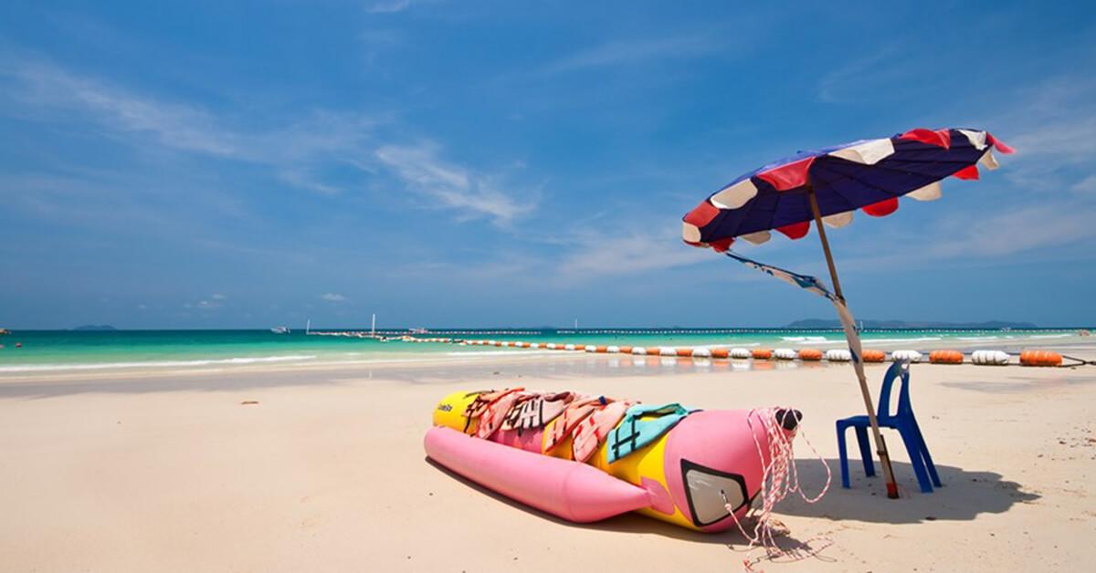 【泰國】盡情享受陽光沙灘海水!芭達雅珊瑚島水上一日遊:飛行傘、海底漫步、水上摩托車、香蕉船、浮潛一次滿足