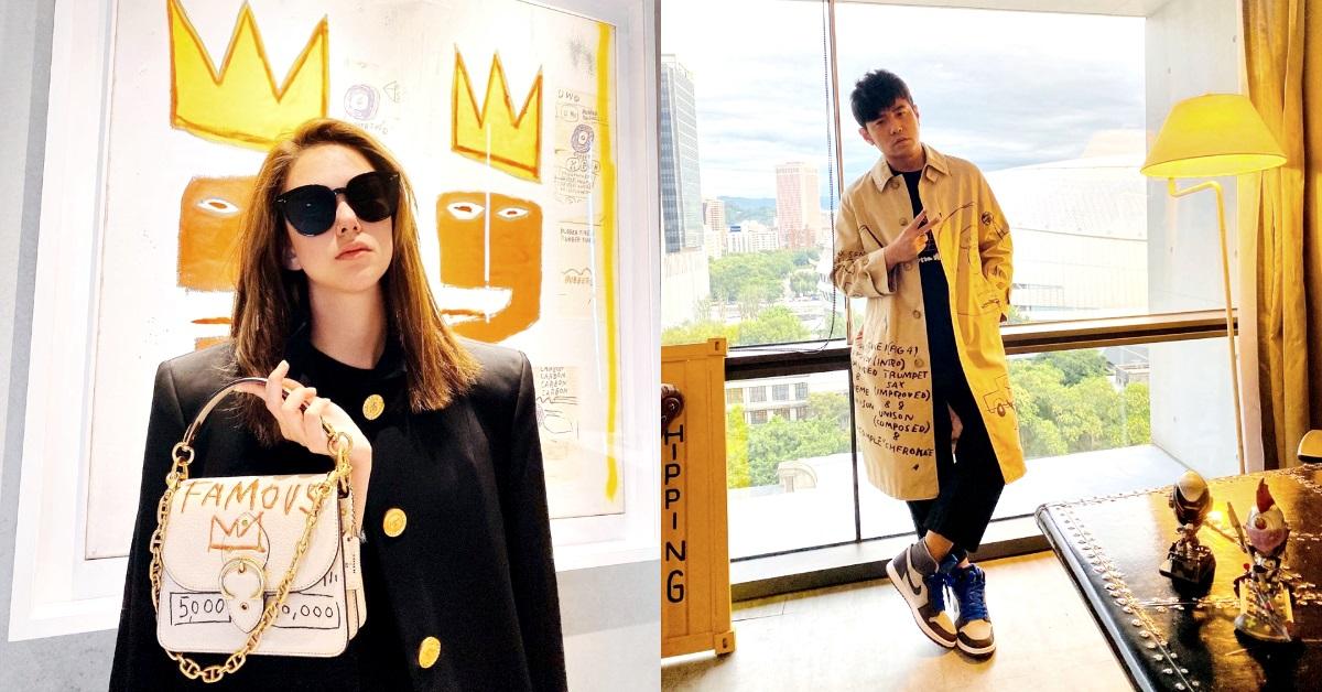 周杰倫、昆凌搶先穿Coach Basquiat聯名系列,千萬名畫套上身!