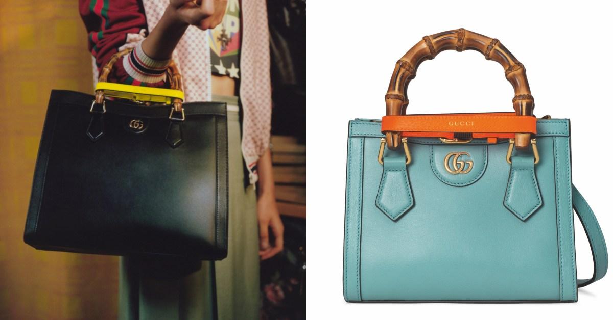 Gucci「竹節包」狂賣30年再回歸!品牌再次復刻,迷你尺寸搭上寶寶藍美翻天