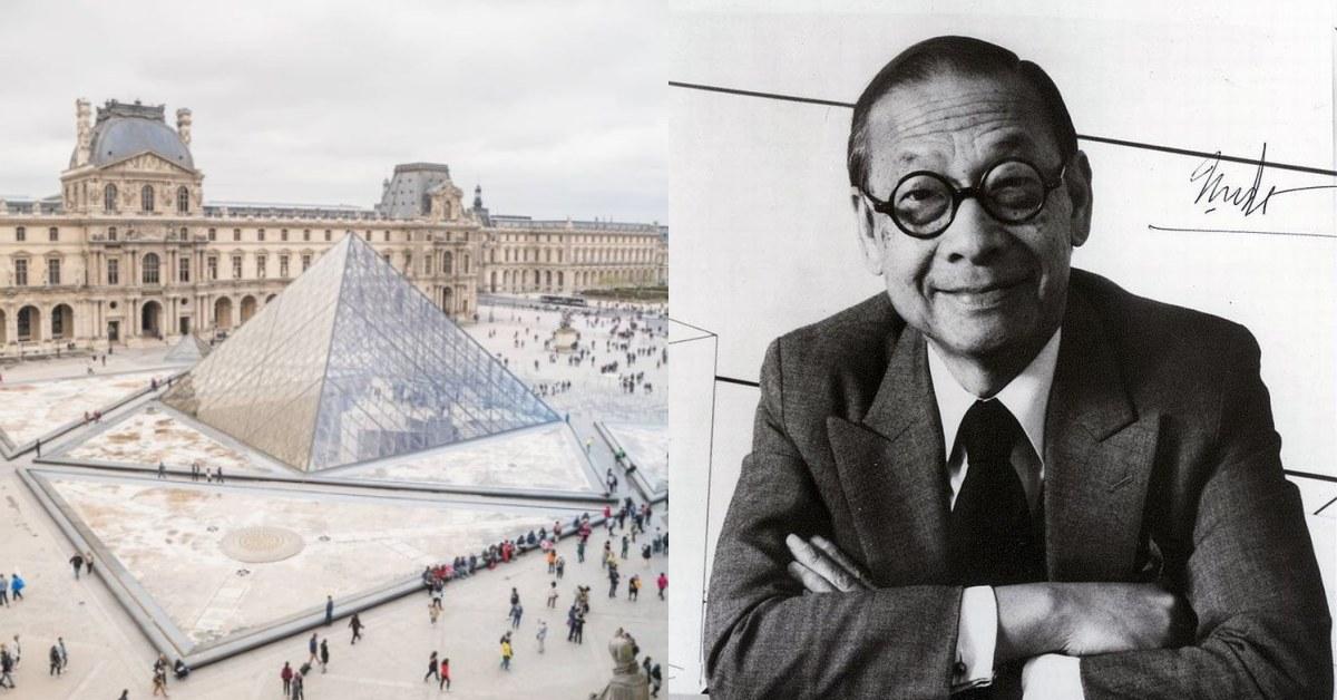 102年間建築大師「貝聿銘」的傳奇巨作!羅浮宮金字塔、香港中銀大廈其實曾爭議不斷?