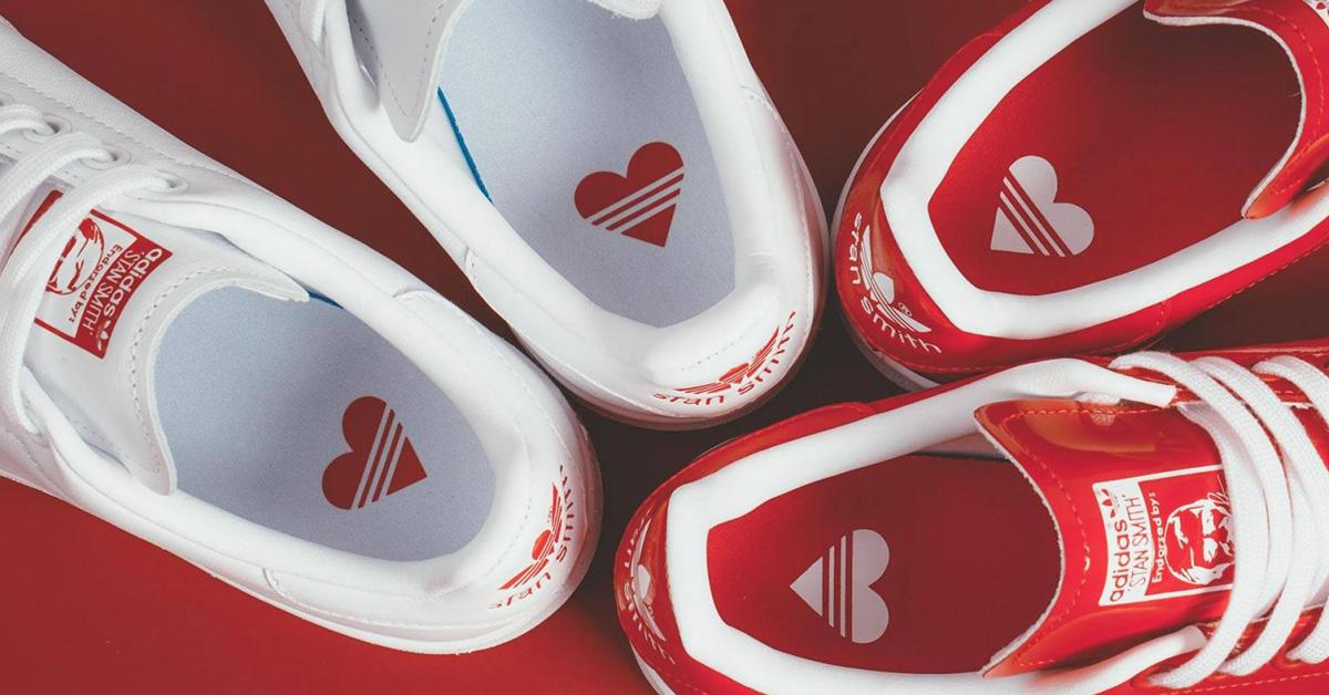 Adidas推出情人節限定Stan Smith!就用超萌「小愛心鞋」偷偷告白
