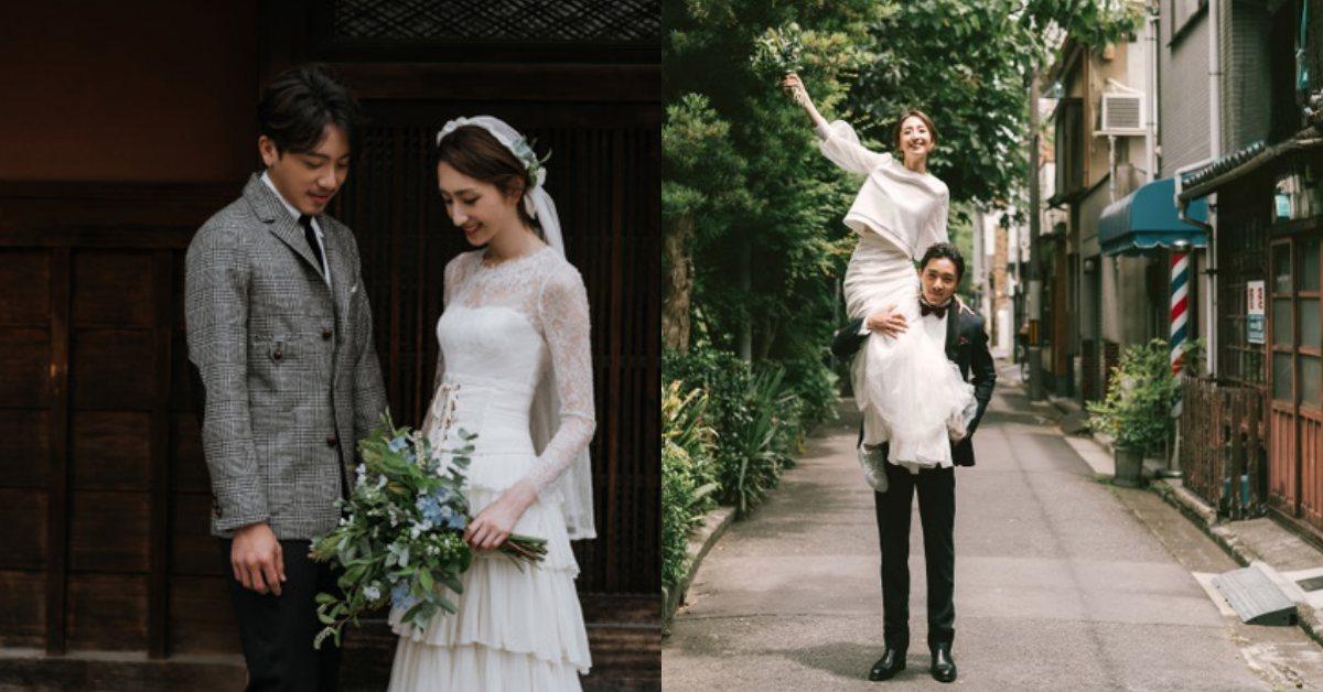 不只風格日系,連婚紗也文青感十足!柯佳嬿、坤達選擇MS IDEAS訂製婚紗展現個性