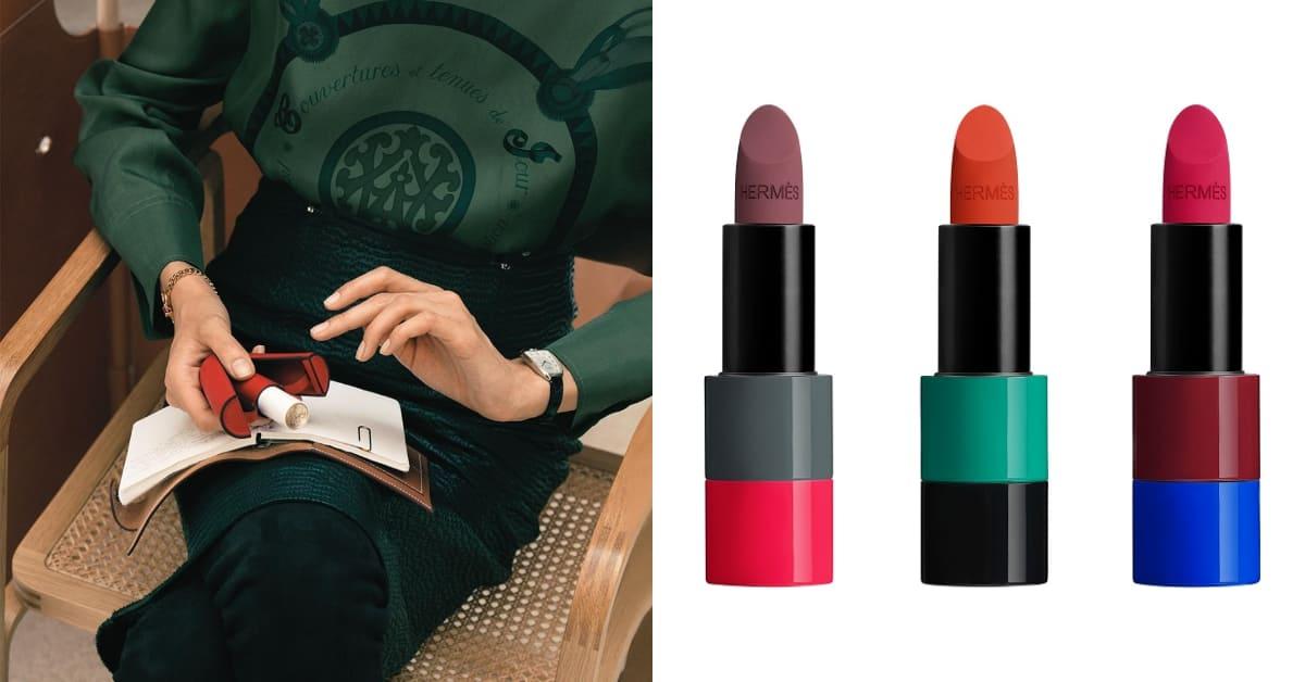 Hermès唇膏再創新巔峰!2021秋冬限量唇妝系列暗黑登場,愛馬仕橘最強接班人是它