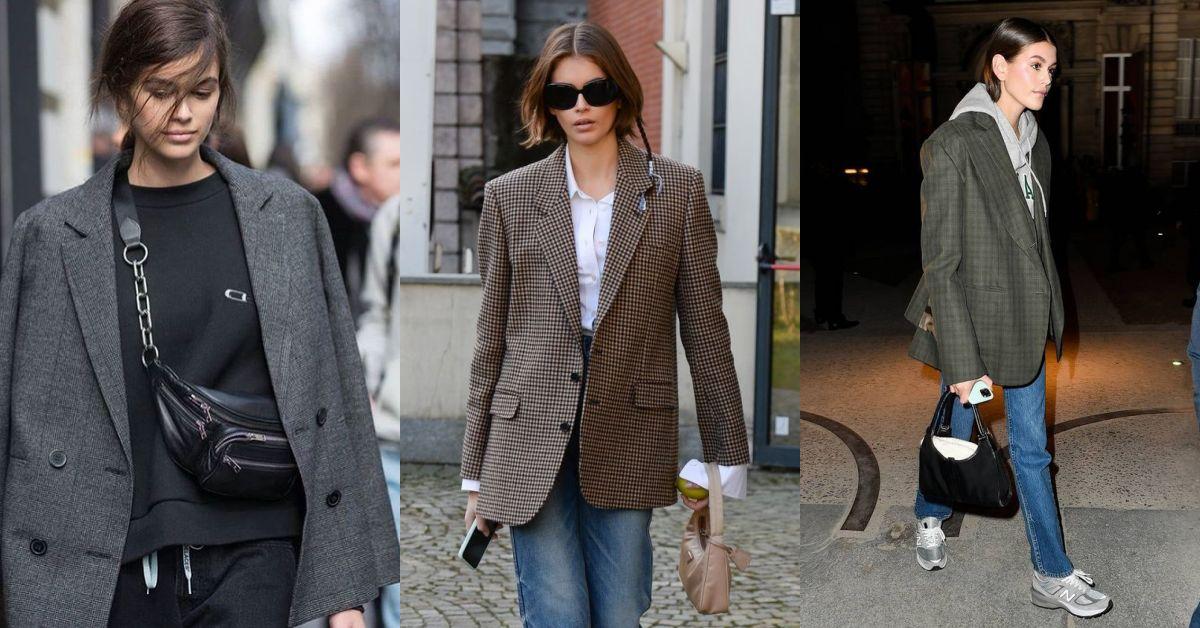 成套西裝已過時?超模用「這2招」混搭讓OL西裝外套約會、休假都能穿!
