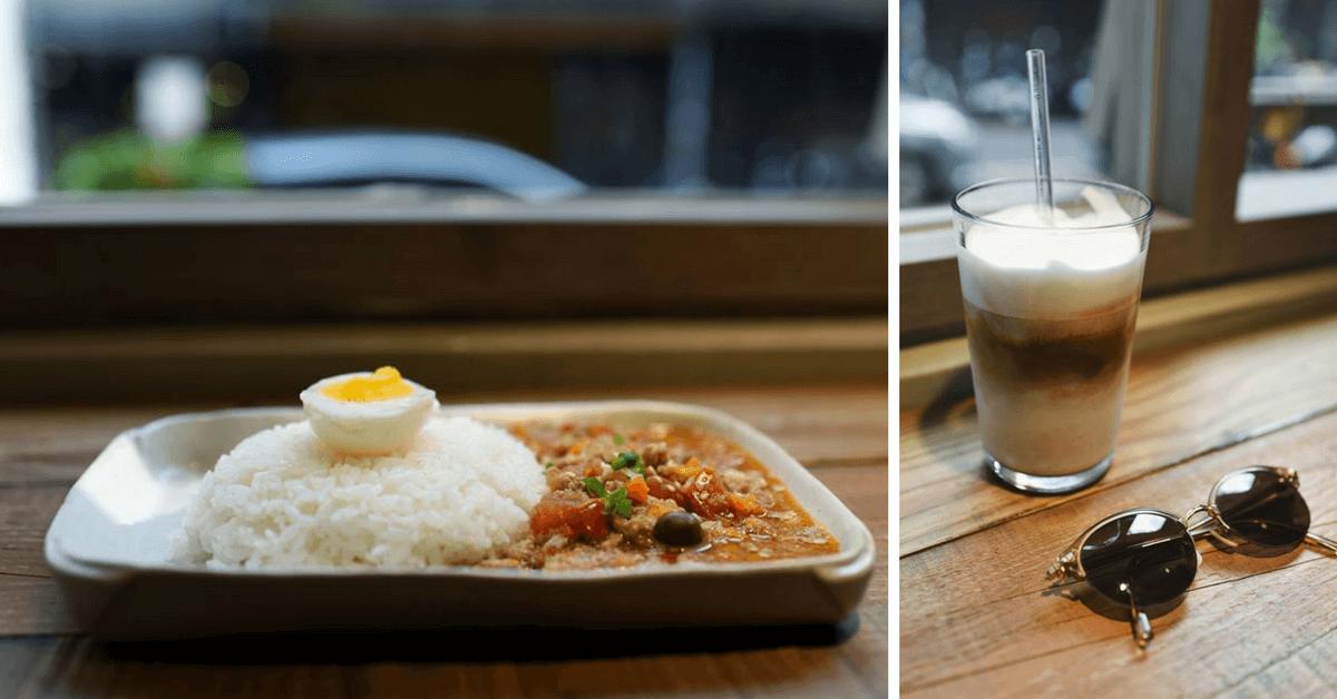 傳統市場裡有家咖啡廳!「嘎哩咖啡GaliGabi」 咖啡外還有日式乾咖哩,濃郁抹茶捲也必點