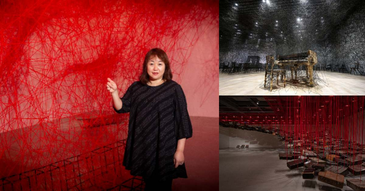 塩田千春展覽台北站10大亮點!紅黑線作品跟靈異體質有關?展覽結束後所有的線怎麼處理?