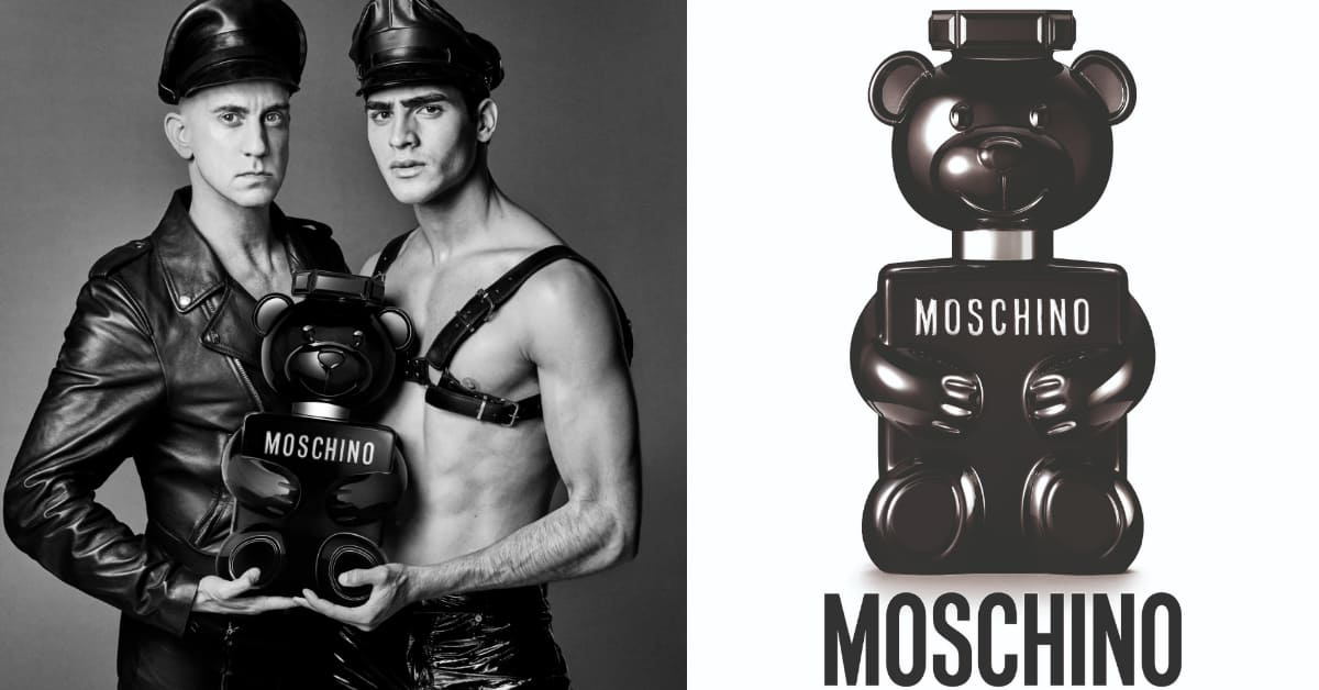 小熊香水大玩角色扮演?Moschino首推男香,暗黑系瓶身讓童心充滿野性