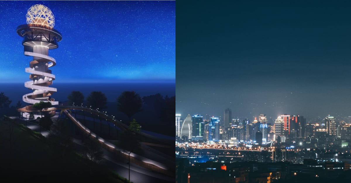 南投「天空之星」中台灣最新地標!2022年啟用,台中、彰化與南投迷人夜景360度盡收眼底