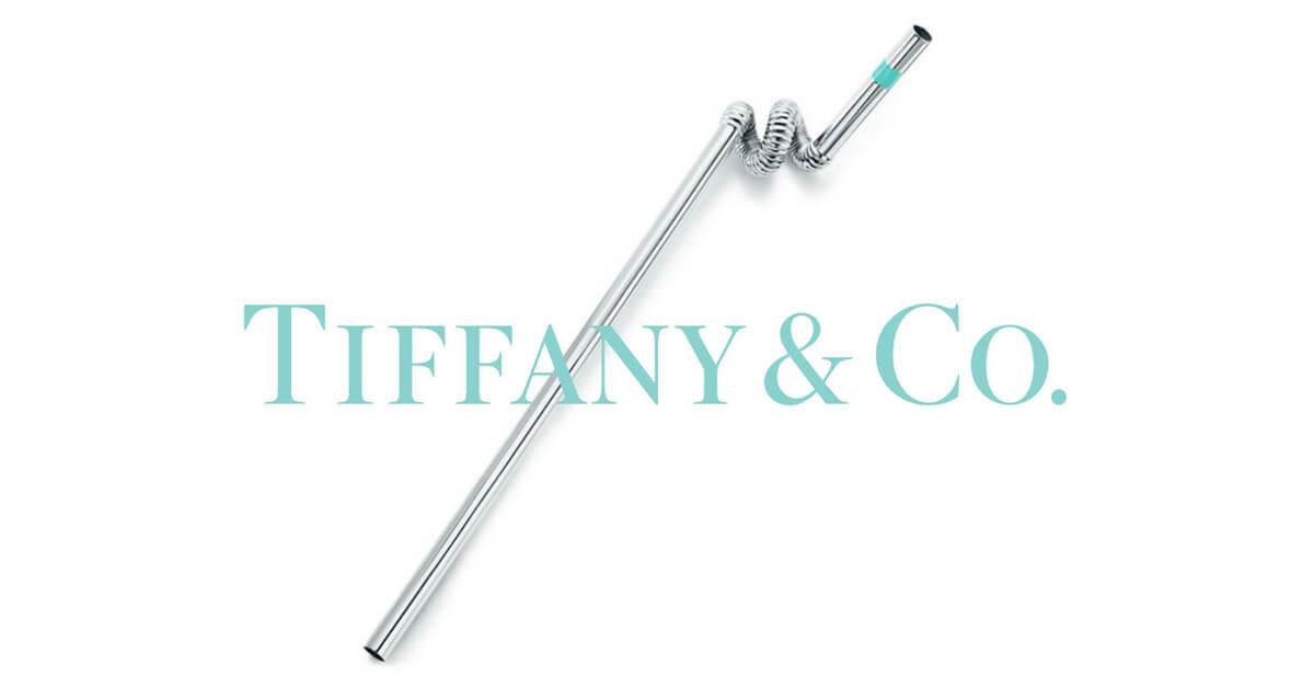 珠寶大王也實踐減塑!這款有著TIFFANY藍色裝飾的「環保吸管」,你買單嗎?