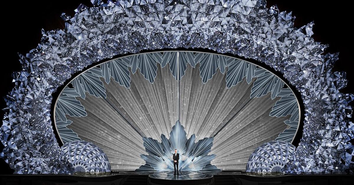 超華麗閃耀!4,500萬顆施華洛水晶奢華打造奧斯卡90週年頒獎舞台!