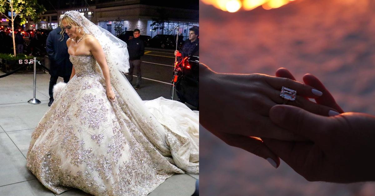 珍妮佛洛佩茲身著華麗婚紗現身紐約街頭!難道年初訂婚、歲末就要嫁了?