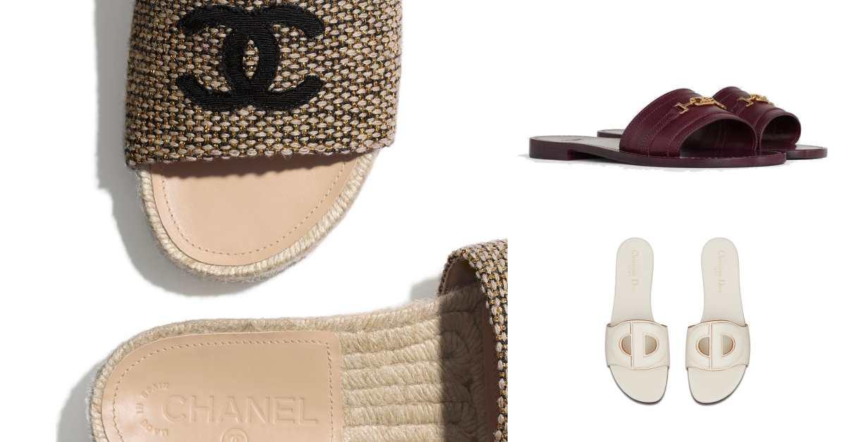 2020拖鞋一定要有大Logo!Chanel、Celine到Dior都狂推,搭配洋裝、短褲、西裝都很合理!