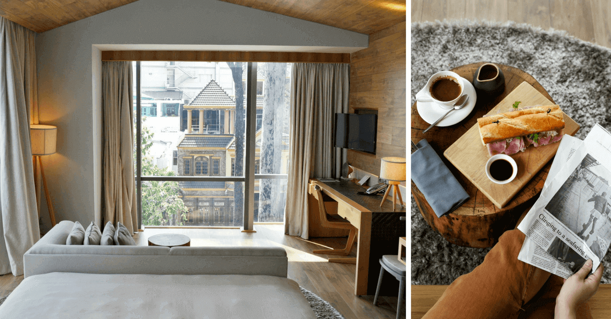 胡志明市最好拍的旅館!時髦木屋 Fusion Suites 懸浮浴缸、床上豐盛早餐,美到想賴在房間一整天
