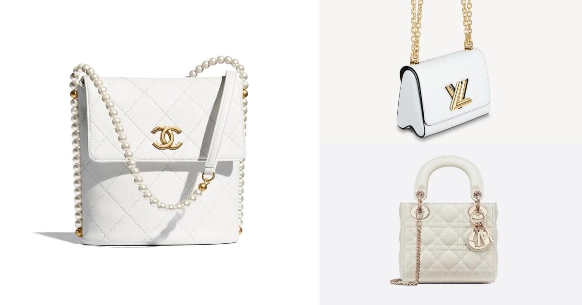 白色方包推薦Top10!Chanel、Dior、LV....百搭又經典,第一款精品包就選它!