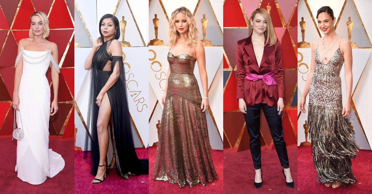 紅唇、金屬光、個性眉!奧斯卡女星稱霸紅毯妝容盤點,5大技巧展現女王氣勢