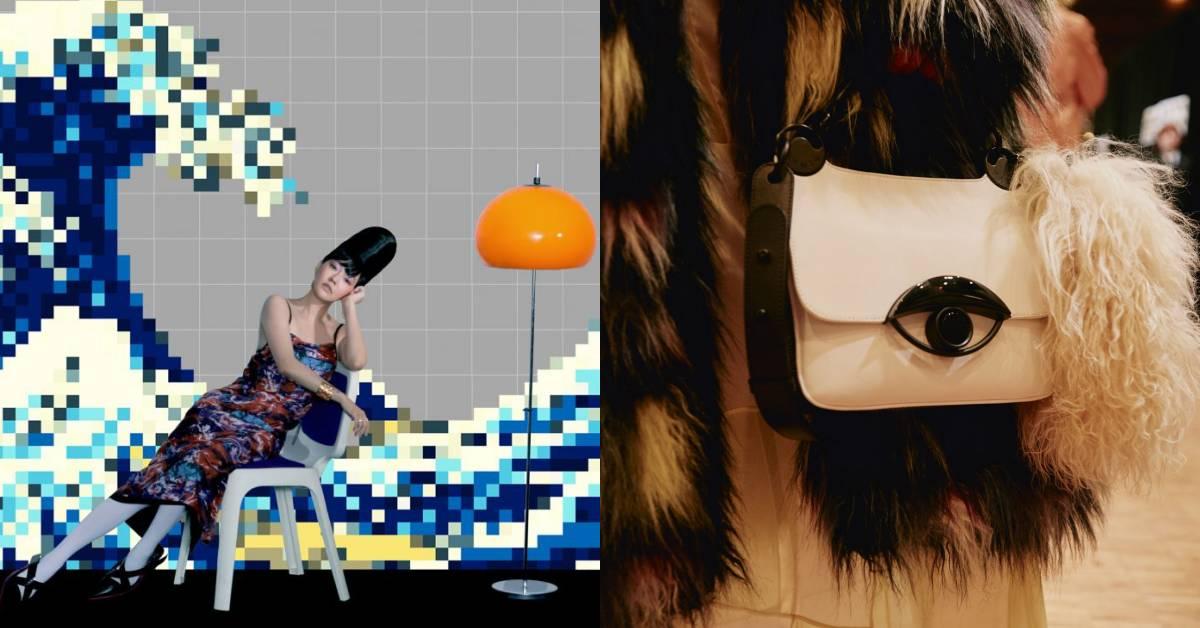 小S穿的復古印花洋裝你駕馭不了?那Kenzo這款限量眼睛包怎麼能錯過!
