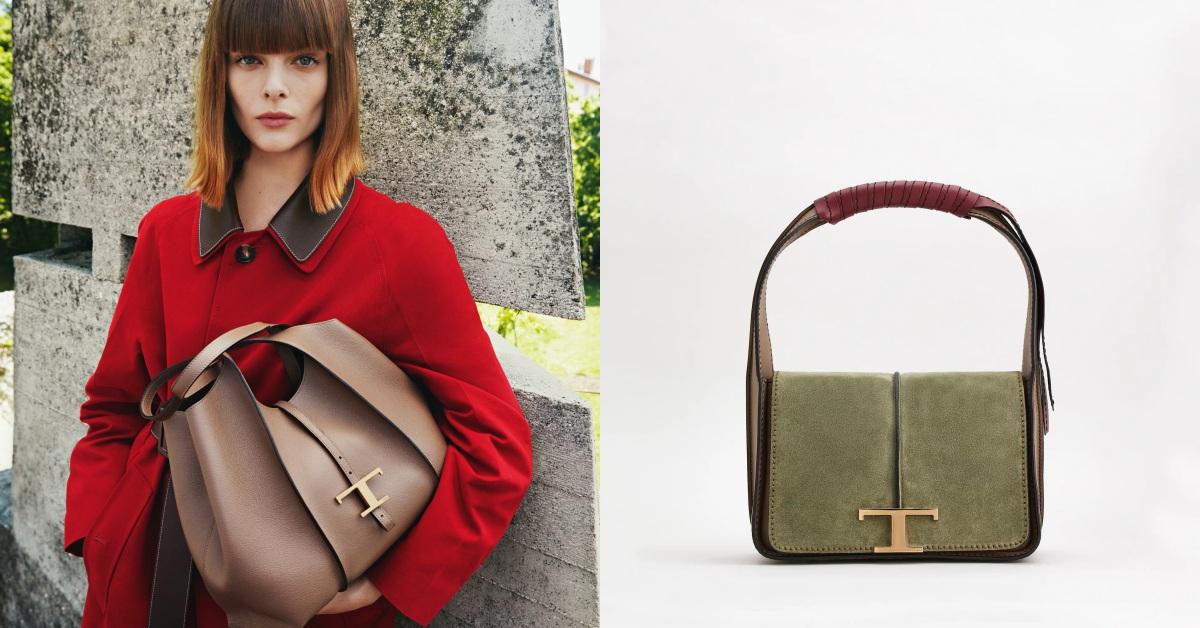 TOD'S「T」字包太時髦,肩背、托特到方包全都超可愛!「淺灰綠」色系少女怎麼能不愛?