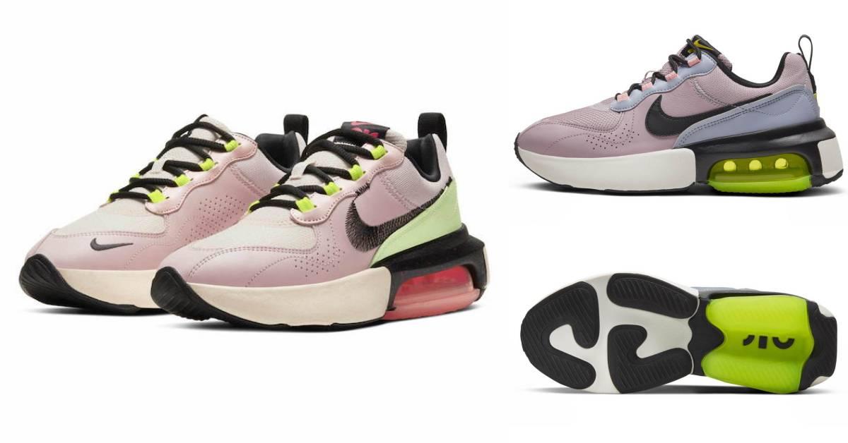 Nike今年秒殺鞋款是這雙!珊瑚粉、薄荷綠撞色厚底增高AirMax,又帥又甜美!
