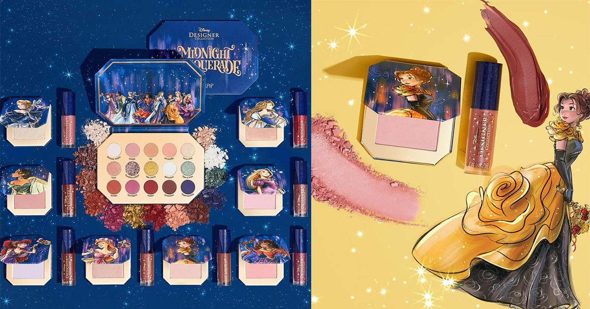 ColourPop X 迪士尼推出「公主化妝舞會彩妝盤」,8款公主系列今晚就用它一圓公主夢!